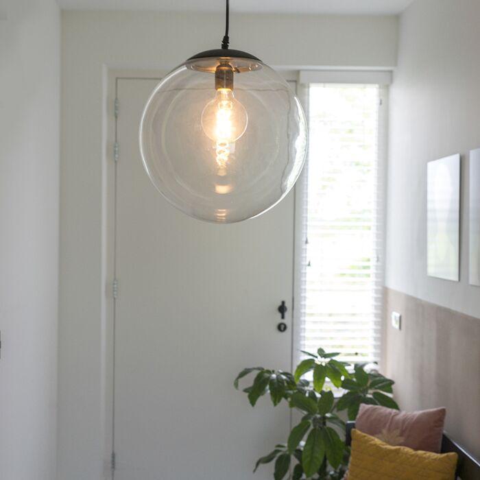 Sodobna-viseča-svetilka-prozorna-35-cm---Pallon