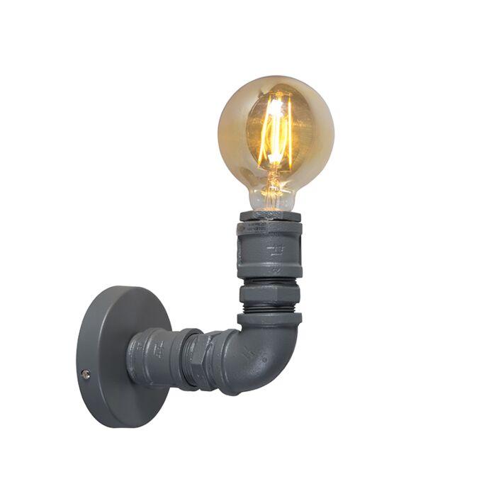 Industrijska-stenska-svetilka-temno-siva---Vodovodar-1