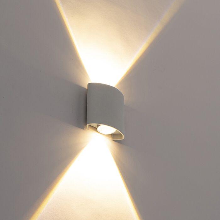 Dizajn-zunanja-stenska-svetilka,-srebrna-z-LED-lučmi-2---Luckasto