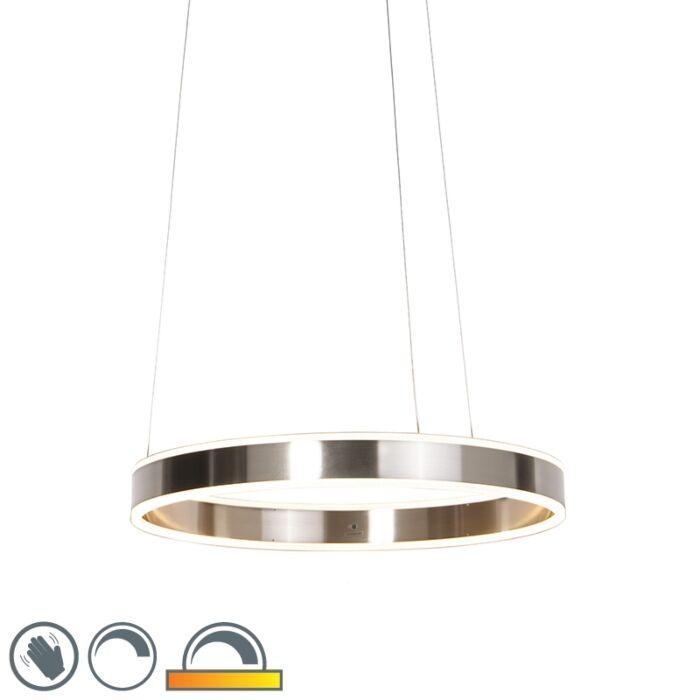 Sodobna-viseča-svetilka-iz-jekla,-vključno-z-LED-60-cm-zatemnjena-do-topla---Ollie