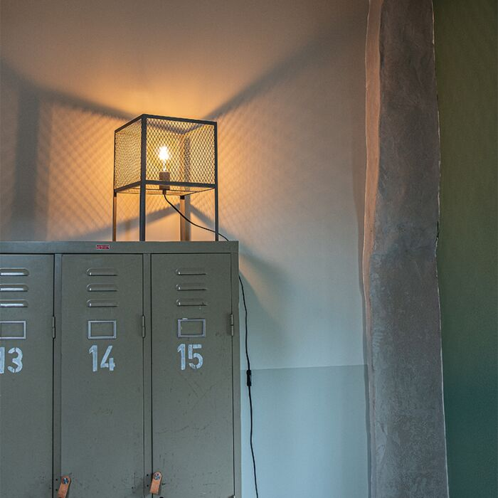 Industrijska-namizna-svetilka-starinsko-srebrna---Cage-Robusto